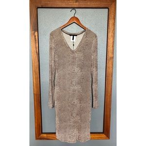 BCBGMAXAZRIA Tori Printed V-Neck Dress